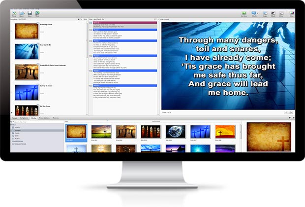 easy worship software theme designer view